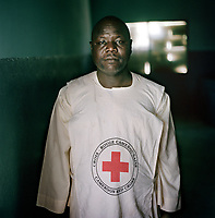Mahamat Blama, a Cameroon Red Cross volunteer, 27. <br /> <br /> 'I am a first aid volunteer for the Cameroonian Red Cross in Meme. I have been a volunteer for ten years. Whenever you speak to people they talk about food. I have seen a lot of children suffering from malnutrition. I take part in the evaluations and the measurements of children. Most of the children here are very thin, they've lost weight.  <br /> <br /> 'When we see them we take them to the health centre. But the problem is that sometimes there is no Plumpy'Nut. I feel for them, but even the villagers here are affected because of the extra people in the community. I myself have four families living in my house. I share my food with them, we eat together. What do you do? If you have people in your house you cannot eat and they go hungry. The little there is now we are sharing with the displaced people. There is no food. I am scared about food in the future.'