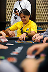 Brazilian Fernando Issas reacts to losing most of his stack in the first few minutes of play.
