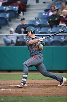 Danny Jipping (45) of the Boise Hawks bats against the Everett AquaSox at Everett Memorial Stadium on July 21, 2017 in Everett, Washington. Boise defeated Everett, 10-4. (Larry Goren/Four Seam Images)