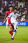Mohammed Al Fatil of Saudi Arabia (R) fights for the ball with Pak Kwang Ryong of North Korea (L) during the AFC Asian Cup UAE 2019 Group C match between Saudi Arabia (KSA) and North Korea (PRK) at Rashid Stadium on 08 January 2019 in Dubai, United Arab Emirates. Photo by Marcio Rodrigo Machado / Power Sport Images