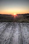 southern sunset and wooden dock Charleston South Carolina hdr, high dynamic range