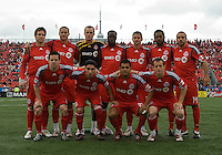 16 May 09: Toronto FC starting eleven at BMO Field during a game between the Chicago Fire and Toronto FC.Chicago Fire won 2-0..