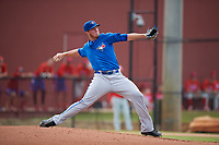 Toronto Blue Jays pitcher Patrick Murphy (54) delivers a pitch during an Instructional League game against the Philadelphia Phillies on September 30, 2017 at the Carpenter Complex in Clearwater, Florida.  (Mike Janes/Four Seam Images)