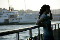 Girl on a ferry, Istanbul, Turkey