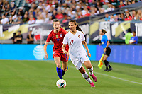 PHILADELPHIA, PA - AUGUST 29: Tierna Davidson #12 of the United States chases Vanessa Marques #17 of Portugal during a game between Portugal and USWNT at Lincoln Financial Field on August 29, 2019 in Philadelphia, PA.