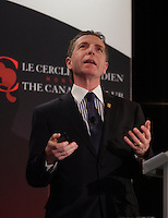 March 18 2013 - Montreal, Quebec,  CANADA  - Jean Gattuso, President and Chief Operating Officer of Lassonde Industries Inc. & President and CEO of A. Lassonde Inc., at the Canadian Club of Montreal's podium