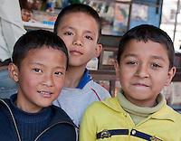 Kathmandu, Nepal.  Nepali Schoolboys.