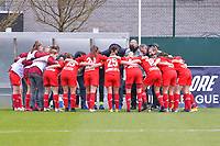 team Standard pictured before a female soccer game between  AA Gent Ladies and Standard Femina de Liege on the first matchday of play-off 1 of the  2020 - 2021 season of Belgian Scooore Womens Super League , saturday 3 th of April 2021  in Oostakker , Belgium . PHOTO SPORTPIX.BE | SPP | STIJN AUDOOREN