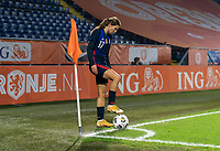BREDA, NETHERLANDS - NOVEMBER 27: Tobin Heath #17 of the USWNT places the ball in the corner during a game between Netherlands and USWNT at Rat Verlegh Stadion on November 27, 2020 in Breda, Netherlands.