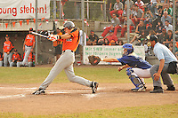 August 9, 2009:  New York Mets International Singing Kevin Weijgertse at bat while playing amateur baseball in Europe.  Weijgertse, a Dutch native, signed with the Mets in 2009.  Photo By Gregor Eisenhuth/Four Seam Images