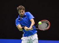 December 189 2014, Rotterdam, Topsport Centrum, Lotto NK Tennis, Men's quarterfinal, Robin Haase (NED)   <br /> Photo: Tennisimages/Henk Koster