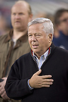 Robert Kraft, owner of the New England Revolution. The New England Revolution tied the Chicago Fire, 0-0, at Gillette Stadium on October 17, 2009.