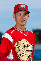 Batavia Muckdogs pitcher Tyler Melling #49 poses for a photo during media day at Dwyer Stadium on June 14, 2012 in Batavia, New York.  (Mike Janes/Four Seam Images)