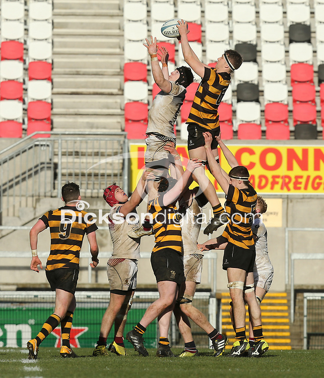Wednesday 7th March 2018 |  RBAI vs Royal School Armagh<br /> <br /> AJ Hussell during the Ulster Schools Cup Semi-Final between RBAI vs Royal School Armagh Stadium, Ravenhill Park, Belfast, Northern Ireland. Photo by John Dickson / DICKSONDIGITAL