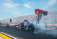 Sep 6, 2020; Clermont, Indiana, United States; NHRA top fuel driver Steve Torrence during the US Nationals at Lucas Oil Raceway. Mandatory Credit: Mark J. Rebilas-USA TODAY Sports