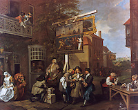 William Hogarth:  The Election--Canvassing for Votes.  Trustees of John Soane's Museum.  Reference only.