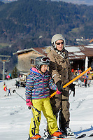 Skilift  auf dem Söllereck bei  Oberstdorf im Allgäu, Bayern, Deutschland<br /> ski lift on Mt.  Sellereck  near Oberstdorf, Allgäu, Bavaria, Germany