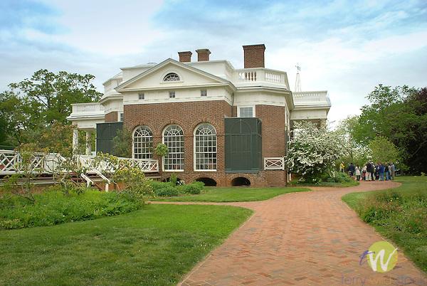 Monticello. Thomas Jefferson estate garden.