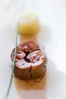 Europe/France/Aquitaine/40/Landes/  Soustons: Rognon de veau à la goutte  de sang avec la moutarde violette de Brive,  recette de Michel Batby de l' Hôtel du Lac