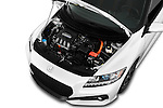 Car Stock 2016 Honda CRZ EX 3 Door Hatchback Engine  high angle detail view