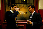 City of London 1992, businessmen chatting over a lunch time drink outside the Lamb Tavern Leadenhall Market 1990s UK