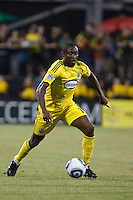 29 MAY 2010:  Emmanuel Ekpo of the Columbus Crew (17) during MLS soccer game between LA Galaxy vs Columbus Crew at Crew Stadium in Columbus, Ohio on May 29, 2010. Galaxy defeated the Crew 2-0.