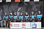 AG2R La Mondiale at sign on before La Fleche Wallonne 2020, running 202km from Herve to Mur de Huy, Belgium. 30th September 2020.<br /> Picture: ASO/Gautier Demouveaux   Cyclefile<br /> All photos usage must carry mandatory copyright credit (© Cyclefile   ASO/Gautier Demouveaux)