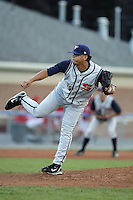 August 2nd 2008:  Pitcher Wilson Ortiz of the State College Spikes, Class-A affiliate of the Pittsburgh Pirates, during a game at Dwyer Stadium in Batavia, NY.  Photo by:  Mike Janes/Four Seam Images