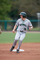 Dartmouth Big Green center fielder Trevor Johnson (36) rounds second base during a game against the USF Bulls on March 17, 2019 at USF Baseball Stadium in Tampa, Florida.  USF defeated Dartmouth 4-1.  (Mike Janes/Four Seam Images)