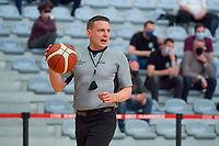 referee pictured during a basketball game between the national teams of Belgium , called the Belgian Cats , and Serbia on Friday 28 th of May 2021 in Kortrijk , Belgium . PHOTO SPORTPIX.BE | SPP | STIJN AUDOOREN