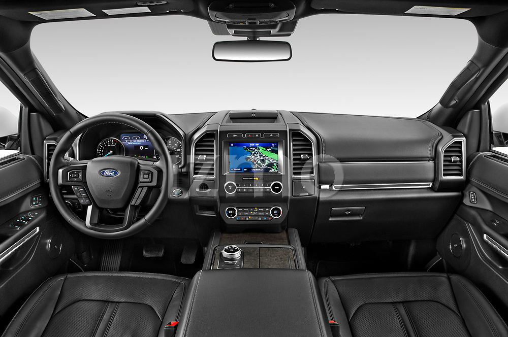Stock photo of straight dashboard view of 2020 Ford Expedition Limited-MAX 5 Door SUV Dashboard