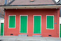 French Quarter, New Orleans, Louisiana.  Creole Cottage, Built about 1810, Restored 1963.