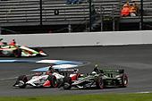 Josef Newgarden, Team Penske Chevrolet, Marco Andretti, Andretti Herta with Marco & Curb-Agajanian Honda