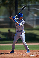 AZL Royals Bruce Steel (3) at bat during an Arizona League game against the AZL Dodgers Lasorda on July 4, 2019 at Camelback Ranch in Glendale, Arizona. The AZL Royals defeated the AZL Dodgers Lasorda 4-1. (Zachary Lucy/Four Seam Images)
