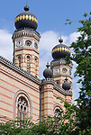 HUN, Ungarn, Budapest, Stadtteil Pest, Zentrum: Grosse Synagoge, zweitgroesste Synagoge der Welt   HUN, Hungary, Budapest, Pest District, centre: Great Synagogue, second largest synagogue of the world