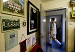 Burntisland Shipyard 0 Colville Park 7, 12/08/2017. The Recreation Ground, Scottish Cup First Preliminary Round. Burntisland players head for the dressing room at half time. Photo by Paul Thompson.