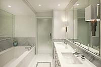 Bright white bathroom