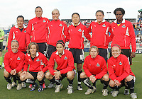Freedom starting eleven before a WPS match between the Washington Freedom and the Chicago Red Stars at Maryland Soccerplex on April 11 2009, in Boyd's, Maryland.  The game ended in a 1-1 tie.