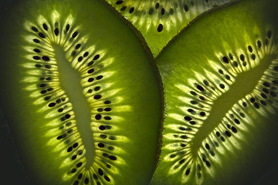 kiwi fruit, macro photography