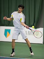 Rotterdam, Netherlands, Januari 28, 2017, ABNAMROWTT, Supermatch, Victor Kwee<br /> Photo: Tennisimages/Henk Koster