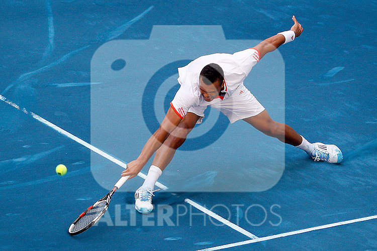 Jo-Wilfried Tsonga during Madrid Open Tennis 2012 Match.May, 9, 2012(ALTERPHOTOS/ALFAQUI/Acero)