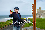 Sunshine Flower Karl White with the sunflower seeds that he has distributed all over Ballybunion.