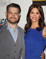 CENTURY CITY, CA, USA - MAY 02: Jack Osbourne, Lisa Stelly at the 21st Annual Race To Erase MS Gala held at the Hyatt Regency Century Plaza on May 2, 2014 in Century City, California, United States. (Photo by Celebrity Monitor)