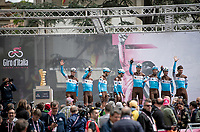 Team AG2R-La Mondiale greeting the crowd at the race start in Vinci (where the famous Leonardo is actually from... )<br /> <br /> Stage 3: Vinci to Orbetello (219km)<br /> 102nd Giro d'Italia 2019<br /> <br /> ©kramon