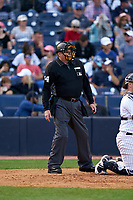 Umpire Jerry Layne during a Toronto Blue Jays Spring Training game against the New York Yankees on February 22, 2020 at the George M. Steinbrenner Field in Tampa, Florida.  (Mike Janes/Four Seam Images)