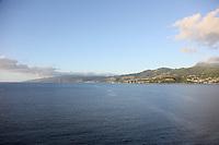 Blick bei der Abfahrt von Roseau, Dominica