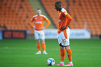 Blackpool's Sullay Kaikai prepares to take a freekick<br /> <br /> Photographer Kevin Barnes/CameraSport<br /> <br /> The EFL Sky Bet League One - Blackpool v Milton Keynes Dons - Saturday 24 October 2020 - Bloomfield Road - Blackpool<br /> <br /> World Copyright © 2020 CameraSport. All rights reserved. 43 Linden Ave. Countesthorpe. Leicester. England. LE8 5PG - Tel: +44 (0) 116 277 4147 - admin@camerasport.com - www.camerasport.com