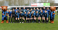 20180414 - AALTER , BELGIUM : Brugge's team pictured during the 21st matchday in the 2e Nationale Women's league , a womensoccer game between Club Brugge Dames and GFA Sinaai , in Aalter , saturday 15 th April 2018 . PHOTO SPORTPIX.BE   DAVID CATRY