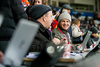 Journalists <br /> Re: Behind the Scenes Photographs at the Liberty Stadium ahead of and during the Premier League match between Swansea City and Bournemouth at the Liberty Stadium, Swansea, Wales, UK. Saturday 25 November 2017