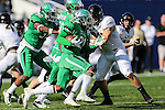 North Texas Mean Green linebacker E.J. Ejiya (22) in action before the Zaxby's Heart of Dallas Bowl game between the Army Black Knights and the North Texas Mean Green at the Cotton Bowl Stadium in Dallas, Texas.